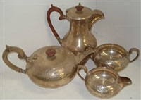tea service (set of 4) by walker and hall