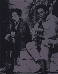 johnny cash and bob dylan by russell young