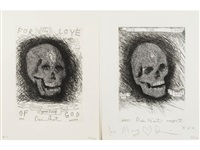 for the love of god - beyond belief (2 works) by damien hirst