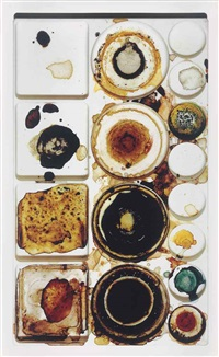 watercolor palette, new york, n.d by irving penn