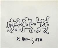 three dancers by keith haring