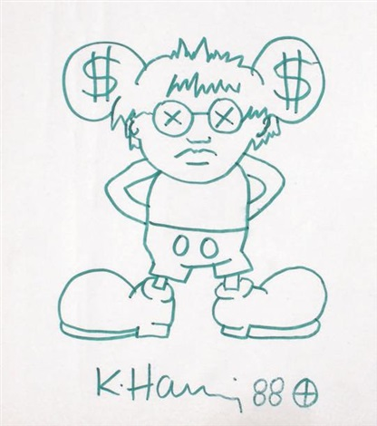 dollar mickey by keith haring
