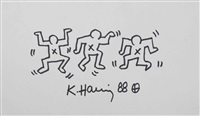three dead man dancing by keith haring
