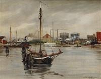 industrial harbour by karl heinz rottger