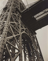 george washington bridge, 129th street and riverside drive, manhattan, january 17 by berenice abbott
