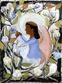 saint francis in prayer by hector hyppolite