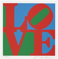 the american dream (portfolio of 24) by robert indiana