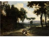 landschaft mit staffagefiguren by frederick de moucheron
