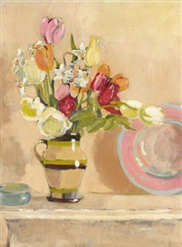 flowers in a jug by edward d'arcy lister