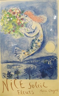 nice soleil fleurs by marc chagall