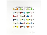 controlled substances key spot print by damien hirst