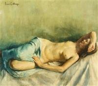 reclining nude by ivan g. olinsky