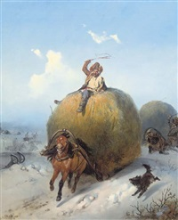 haywagons on the move by konstantin nikolaevich filippov