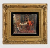 kardinal im studierzimmer by max sandor