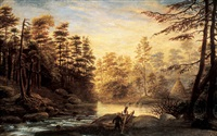sunset on the upper black river by joseph julius humme