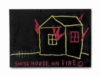 swiss house on fire by jean-michel basquiat