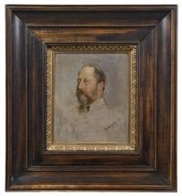 könig edward vii., porträtstudie by heinrich von angeli