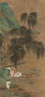 周茂叔爱莲图 by qiu ying