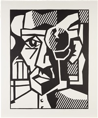 dr. waldmann (black state) by roy lichtenstein