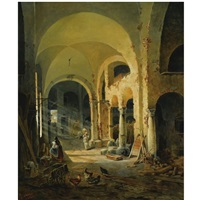 the old monastery by anton altmann the younger