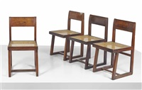 chairs (set of 4) by pierre jeanneret