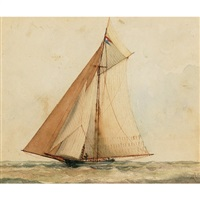 "the yacht ""cygnet"" by william wallace armstrong"