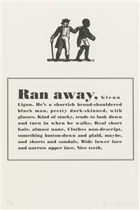 runaways (set of 10) by glenn ligon