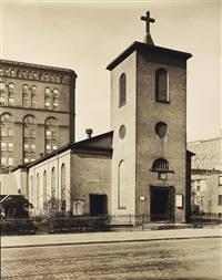st. luke's chapel, hudson, manhattan by berenice abbott