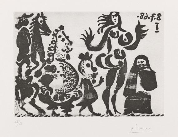 célestine maja et grotesques pl202 from 347 gravures by pablo picasso