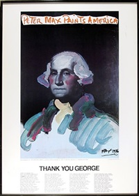 painting america (george washington) by peter max