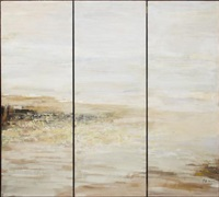 morning light (triptych mounted as a screen) (double-sided) by bo yun