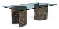 dining table (model brutal series) by paul evans