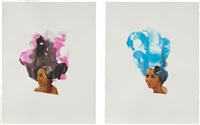 condensation (+ composed blue; 2 works) by lorna simpson