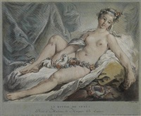 le réveil de venus (after boucher) by louis marin bonnet
