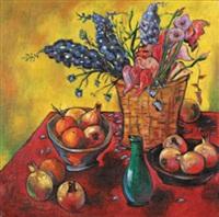 bouquet de fleurs et grenades by raul auguiano