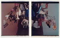 tree with clothes ornaments (diptych) by laurie simmons
