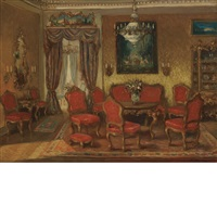 salon interior by walter gay