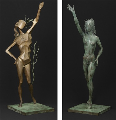 homage to terpsichore set of 2 by salvador dalí