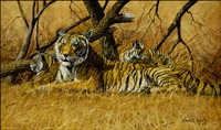tigress and cubs by gary r. swanson