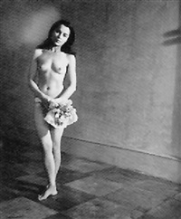 nude with posy by peter rose pulham