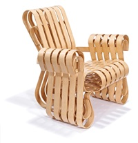 power play club chair (model 94l-gc) by frank gehry