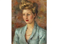 portrait of a woman by marcel dyf