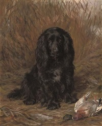 a well-behaved spaniel (+ another; 2 works) by david george steell