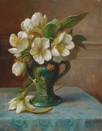 pfingstrosen in einer vase by hans zatzka