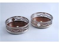 wine coasters (pair) by c.j. vander ltd