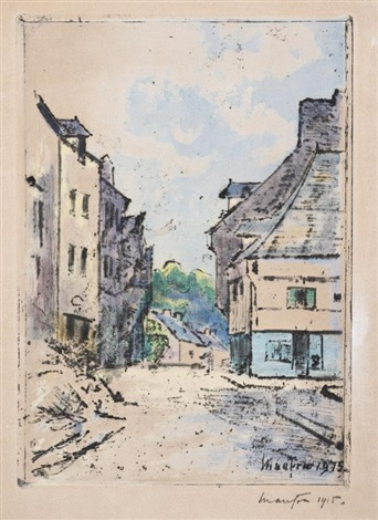 maisons à josselin by maxime maufra