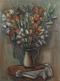 bouquet of flowers by aleksandr grigor'evich tyshler