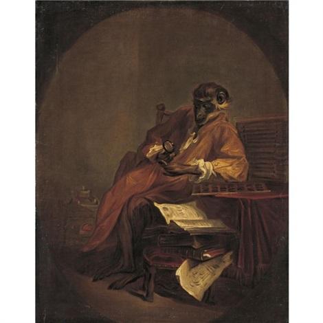 le singe antiquaire by jean baptiste siméon chardin