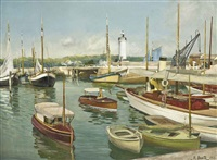 a harbor on the french coast by r. bentz