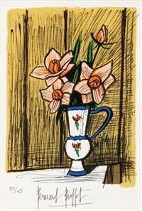 petit bouquet de camelias by bernard buffet